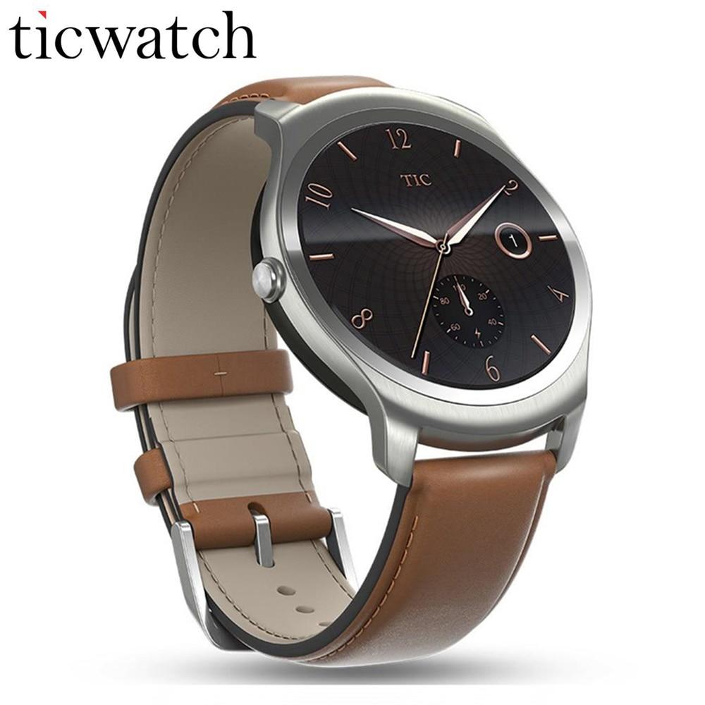 SmartWatch телефон ticwatch2 mt2601 1.2 ГГц 512 М Оперативная память 4 г Встроенная память 1.4 ''GPS здоровья трекер IP65 Водонепроницаемый Беспроводные устройст...