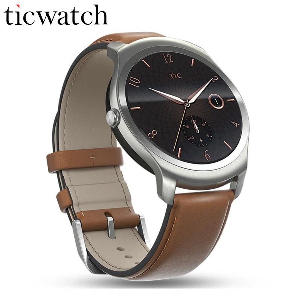Smartwatch Téléphone Ticwatch2 MT2601 1.2 GHz 512 M RAM 4G ROM 1.4 ''GPS Santé Tracker IP65 Étanche Portable dispositifs Brun Ceinture