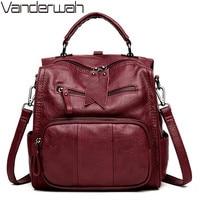 Multifunctio Women Backpacks Leather Female Travel Shoulder Bag Backpack High Quality Women Bag School Bag Backpack