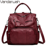 Multifunctio Women Backpacks Leather Female Travel Shoulder Bag Backpack High Quality Women Bag School Bag Backpack Girl Mochila