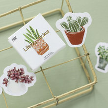 45pcs/pack Kawaii green plant cactus Stickers Cute Diary Decoration Scrapbooking DIY seal Sticker Stationery Free shipping