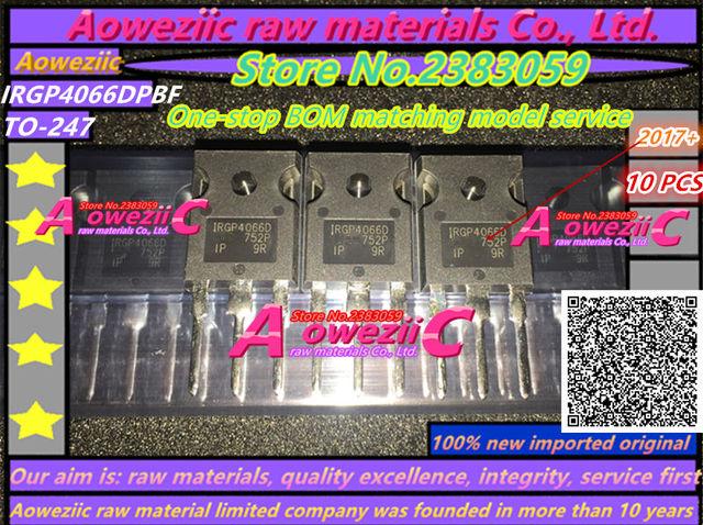 Aoweziic   2017+ 100% new imported original  IRGP4066DPBF  IRGP4066D  TO 247 IGBT power transistor 90A 600V