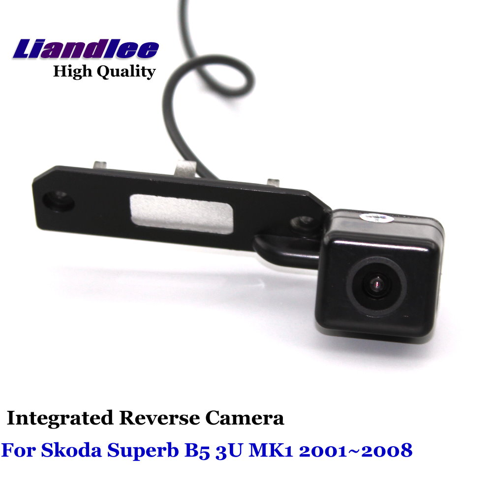 Liandlee Car Rear View Camera For Skoda Superb B5 3U MK1 2001 2008 Rearview Reverse Parking Backup Camera Integrated SONY HD in Vehicle Camera from Automobiles Motorcycles