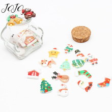 JOJO BOWS 10pcs DIY Craft Supplies Christmas Glitter Resin Accessory For Flatback Planar Patch Phone Case Sticker
