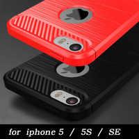 Neue ankunft 100% original top qualität weichen gebürstetem silizium fall für apple iphone5 iphone 5S für iphone SE freies verschiffen auf lager