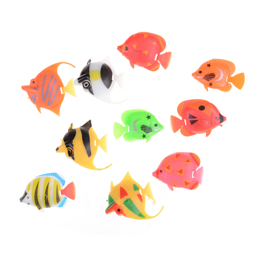 Learning & Education Bath Toy Baby Toys Fish For Fishing Tank Decorating Fish Kids Bathtime toy Classic Toys Random Color