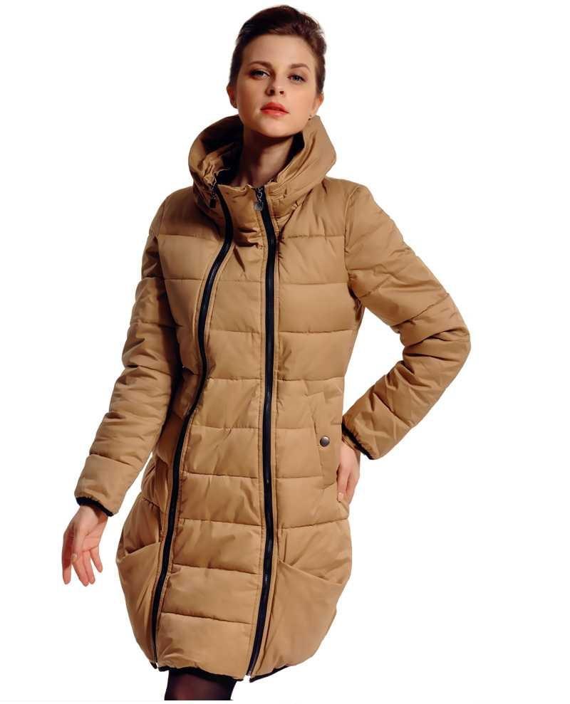 ФОТО HOT!! 2015 Women Coats Fashion Winter Zipper Long Wadded Jackets Ladies Slim Duck Parkas Overcoats H4697
