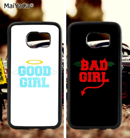BFF bad good sisters soft TPU edge mobile phone cases for samsung s6 plus s7 s8 s9 s10 lite e note 8 9 case