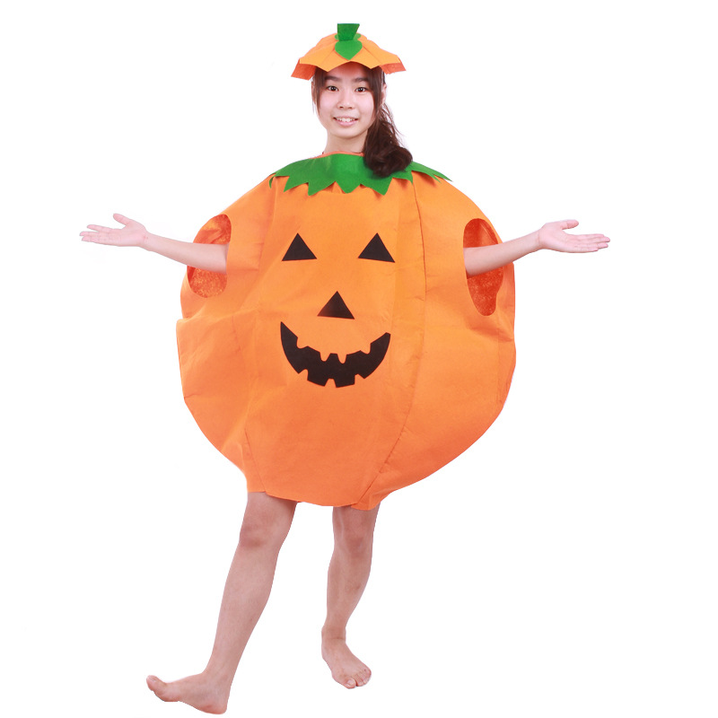 2-Pieces Set Halloween Costumes for Women Men Adult Pumpkin Costume Outfit Clothes