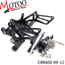 Motorcycle Adjustable Footrest Footpeg Rearsets Rear Sets Foot Pegs For HONDA CBR600RR NON ABS 2009 2010 2011 2012 2013 2017