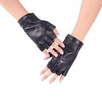 Wiosna i lato kobiet Pół palca prawdziwej skóry rękawiczki hip-hop kożuch rękawice half finger męska prawdziwej skóry rękawica