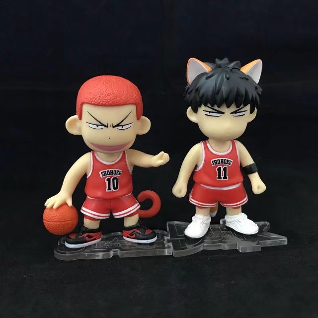 Anime SLAM DUNK SHOHOKU 10# Hanamichi Sakuragi 11# Fox Kaede Rukawa PVC Action Figure Resin Collection Model Toy Gifts Cosplay