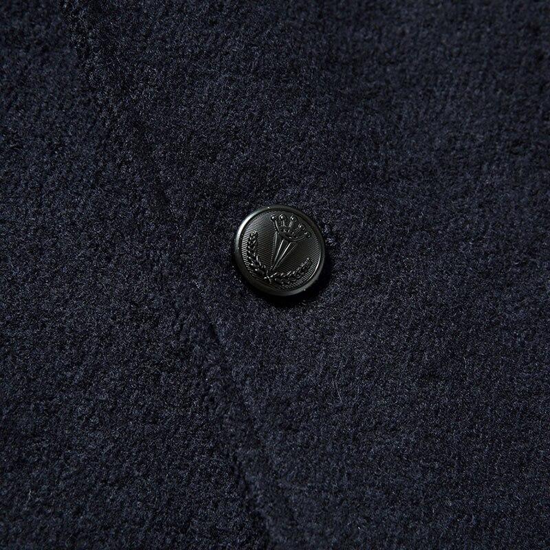Lana navy Coat Black De Solo Llegada Mn8628 Más Nueva Hombres Hombres Un Alta tamaño Blue dark Los Batmo Trench 2017 Green Abrigo Invierno Calidad Pecho CXqwRC6g