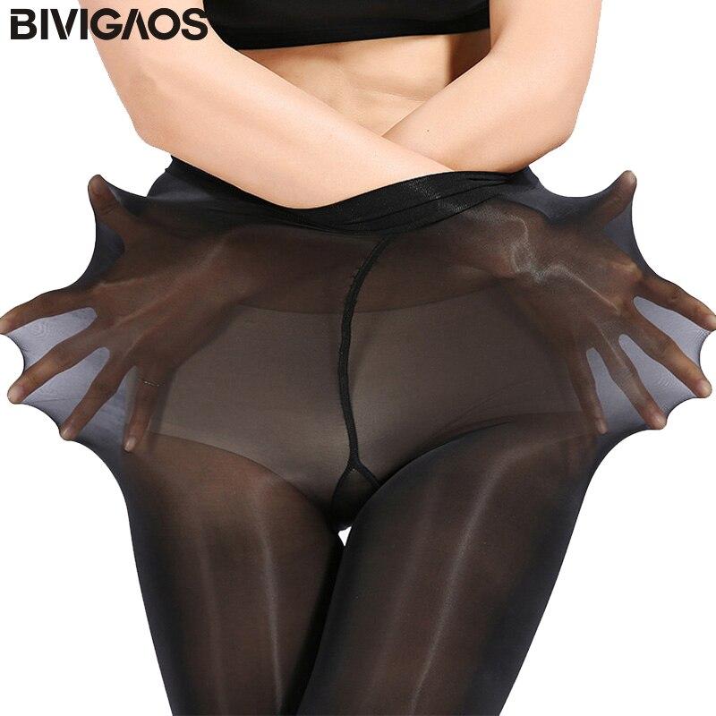 BIVIGAOS Upgraded Super Elastico Magico Calzamaglia Delle Calze Di Seta Gambe Magre Collant Sexy Collant Prevenire calze di Seta Gancio Donne Medias