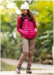 Image 3 - NewBang 8XL 9XL בתוספת גודל קל במיוחד למטה מעיל נשים סתיו חורף חם מעיל לבן ברווז מעילי נקבה סלעית Parka