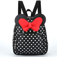 Children Bags For Girls Kindergarten Children School Bags Cartoon Bow Tie Baby Girl School Backpack Cute