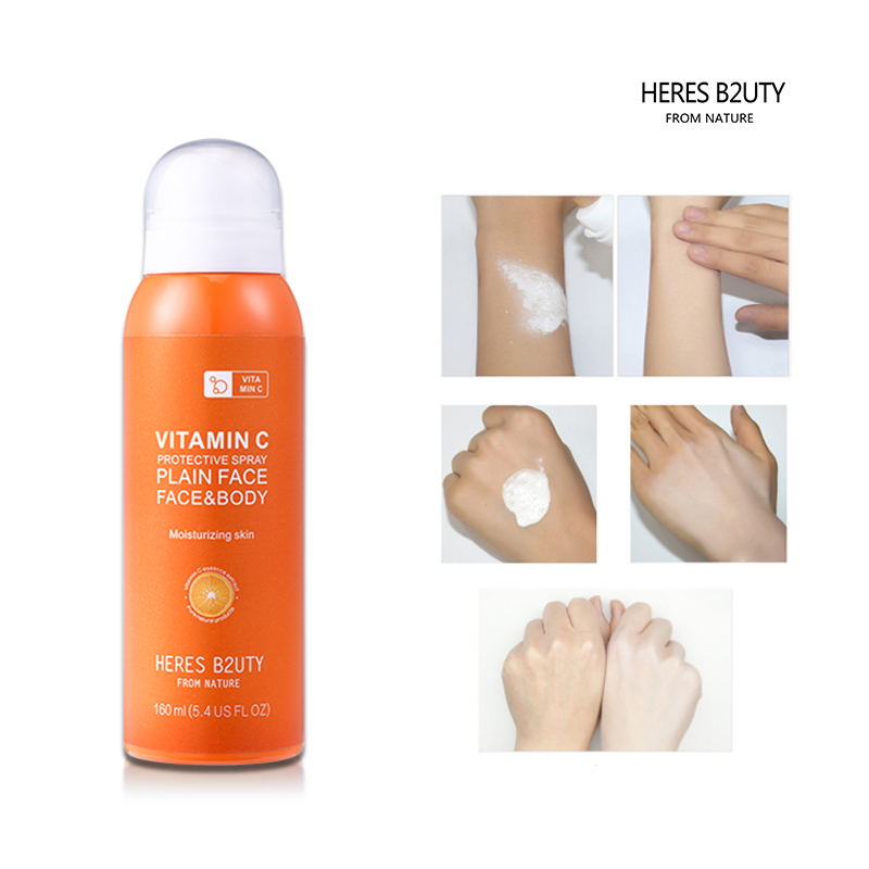 HERES B2UTY Vitamin C Protective Sunscreen Spray Face&Body Skin Whitening UV Protection Sun Spray Brighten Face Body  160ml