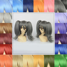 Free Shipping Cosplay Short Wigs +1or2 Clip In 30cm Straight Ponytail Lace Frontal Closure With Bundles Heat Synthetic Hair