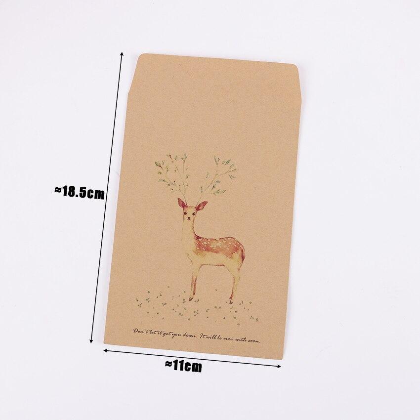 10 шт. олень бумага конверт 4
