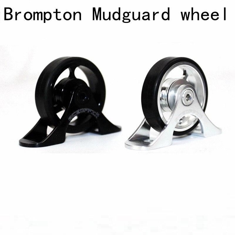Bike Mudguard Easywheel Easy Wheels for Brompton Bicycle Mud Guards Roller Wheel