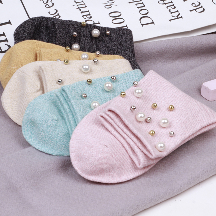 NOVIA NMW-021 high quality women socks Winter individual handmade custom pearl cotton so ...