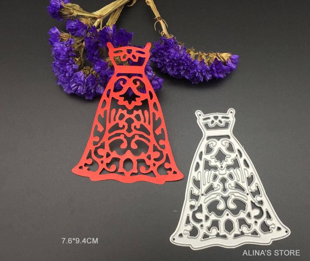 Wedding full dress die cutting metal dies cuts Scrapbook Card ...