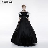 2018 новый дизайн викторианской Винтаж Pinup дворец длинное платье макси черное Косплэй вечерние одежда пикантные WQ356