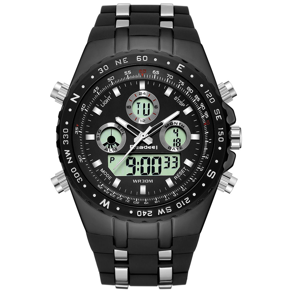 Sport watch Quartz Digital LED Display 3bar Waterproof