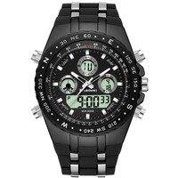 2018 часы для мужчин спортивные наручные часы Военная Униформа reloj hombre Dive цифровой светодио дный дисплей мужской Кварцевые для мужчин