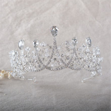 Snuoy Luxury Austrian Crystal Tiara Jewelry for Women Bridal Wedding Accessories Retro Queen's Crown Party Pageant Tiara HG775