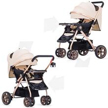 2017 новый портативный Детские Коляски Легкие Путешествия Детская Коляска Может сидеть и лежать четыре колеса складной детские коляски XXTC-BL-808