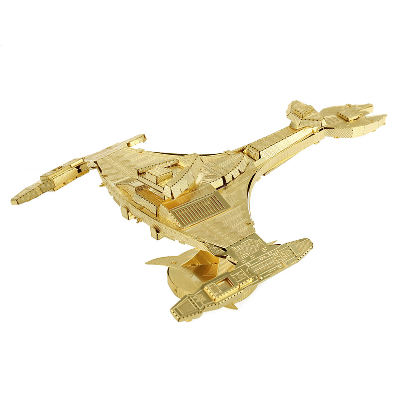 Gold Kerrey Reagan model laser cutting 3D puzzle DIY metalic spacecraft jigsaw free shipping Lost In