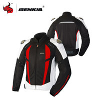 BENKIA Motorcycle Summer Jcaket Men Racing Clothes Spring And Autumn Mesh Breathable Riding Clothes Motorcycle Protector