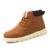 Inverno PU Homens De Couro Dos Homens de Super Quentes de Neve de Borracha À Prova D' Água botas de Lazer Botas Inglaterra Retro Sapatos De Pele Para Homens Grandes tamanho