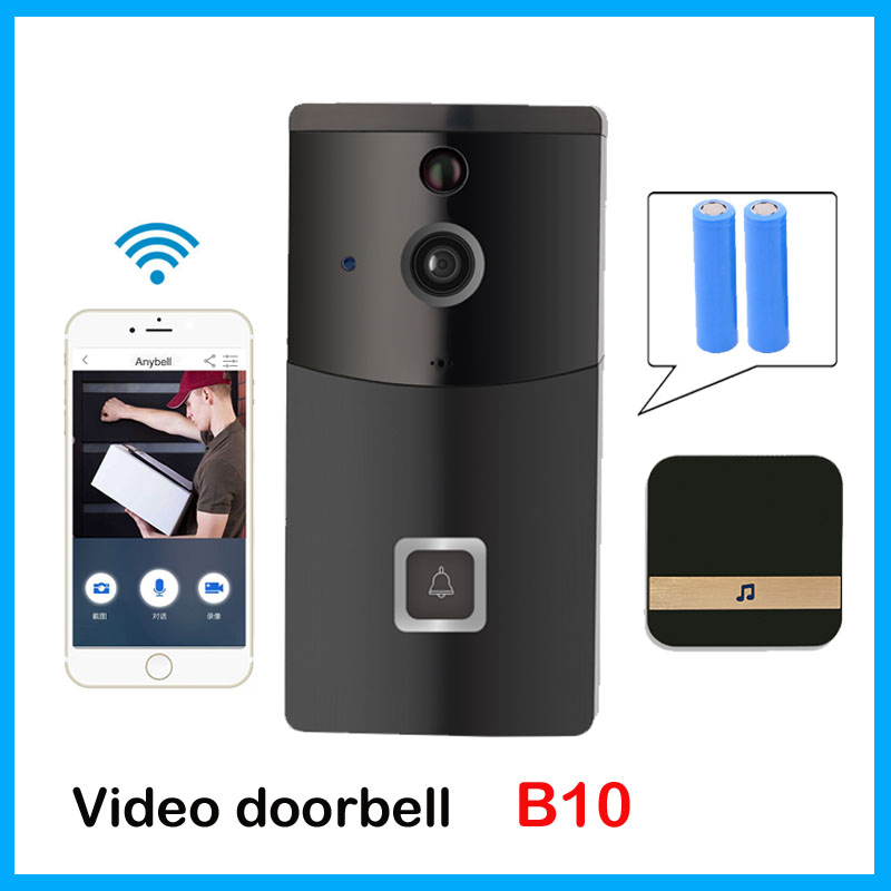 Anytek B10 Smart WiFi Security DoorBell with Visual Recording Low Power Consumption Remote Home Monitoring IP