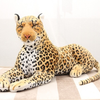 Real life leopard panther animal plush toy leopard leopard doll tiger doll photography props 87cm фото
