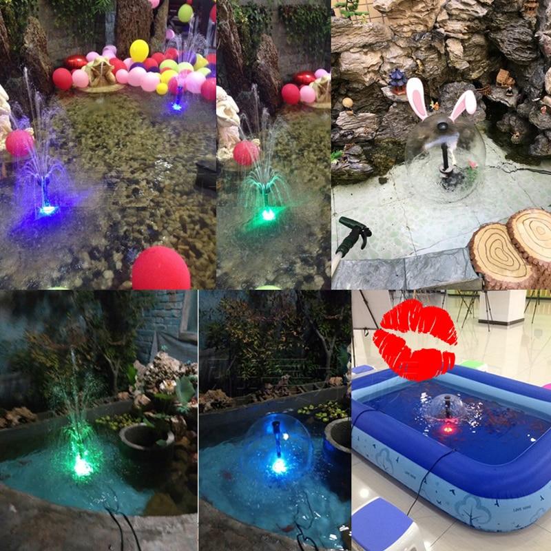 2017 nieuwe dompelpomp fontein pomp led licht fontein pomp met led verlichting gratis verzending tuin kleurrijke pomp in 2017 nieuwe dompelpomp fontein pomp