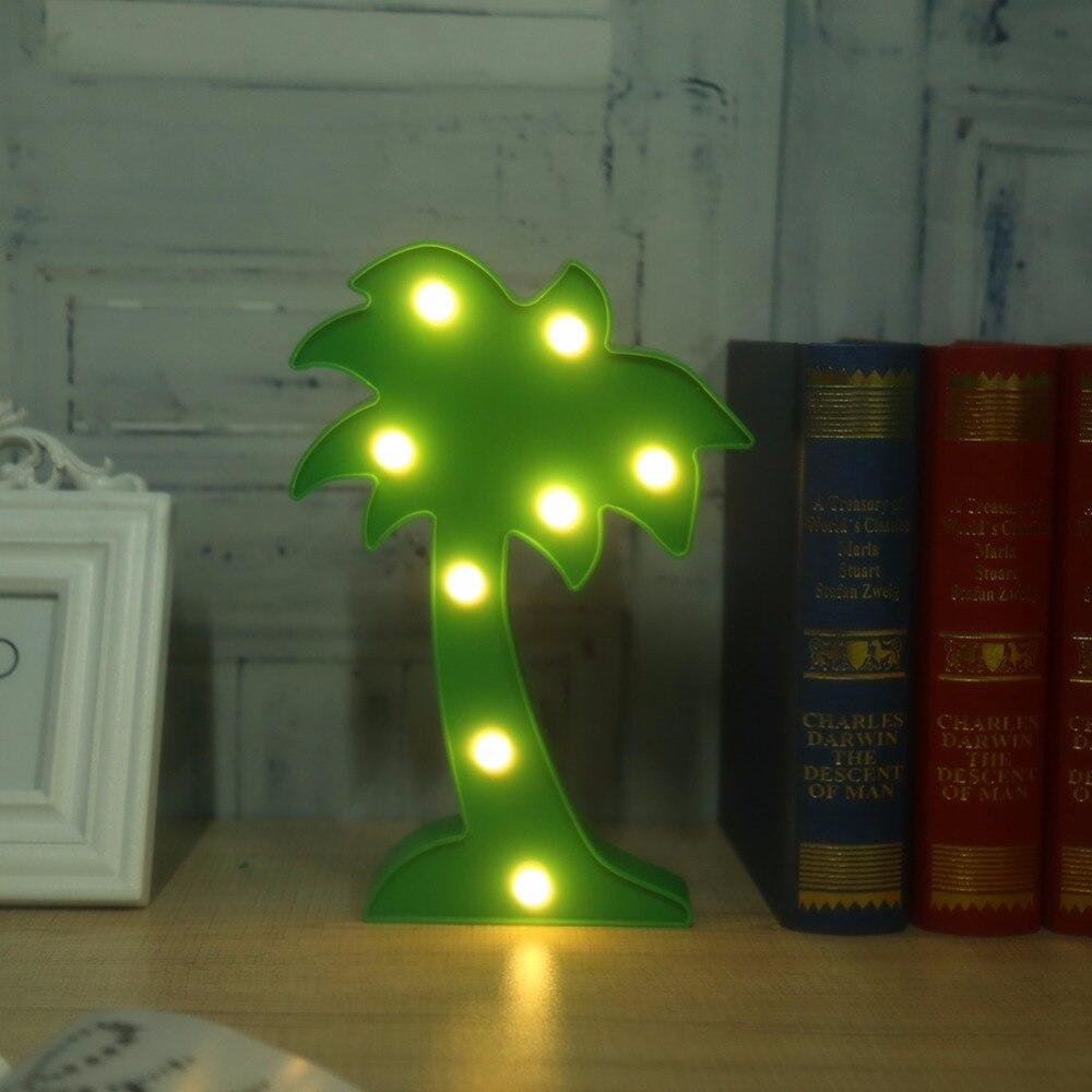 3D лампа детский ночник светодиодный кокосовой пальмы настольная лампа домашнего праздника Рождество украшения