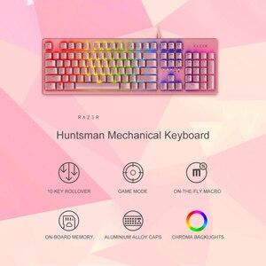 Image 4 - Razer teclado mecânico de caça, teclado gamer opto interruptor mecânico 104 teclas rgb backlight teclado com fio para computador/notebook