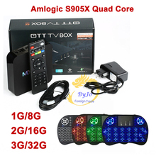 MXQ Pro 4K TV Box Amlogic S905X Quad Core 3G 32G Flash Android Ultra 4K Streaming fully Load Tv box wireless keyboard MX Pro
