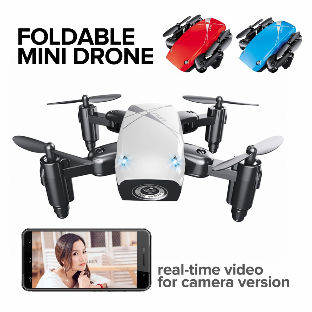 2017 New Micro Foldable Drone Dron Speed Switch RC Quadcopter Headless Mode One Key Return Quadcopters RTF Gifts for Friends