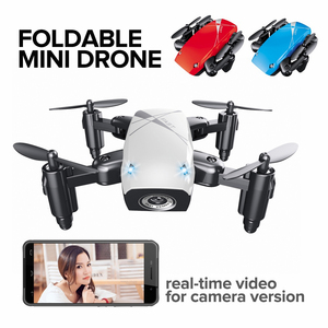 Foldable S9 Mini RC Drones Pocket Micro Drone 0.3MP Camera HD Wifi FPV Headless Mode Brushed Motor RC Quadcopter Kids Toys Gift(China)