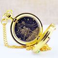 Luxury Golden Fashion Sailor Moon Anime figure Cartoons Quartz Pocket toy Watch Analog Pendant Necklace Girl Womens Watches