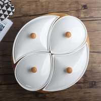 Porcelain Assorted Serving Tray Set Decorative Ceramics Grid Dish Living Room Accessories Dinnerware for Fruits Sweets Desserts