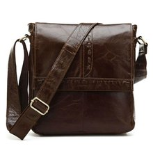 JMD Classic Vintage Leather Men's Coffee Shoulder Messenger Bag Cross Body Purse 7125B