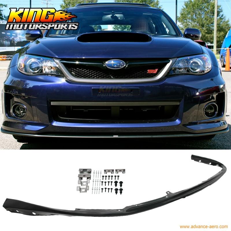 Fit For 08-10 Subaru Impreza WRX Sti Front Bumper Lip Poly Propylene Spoiler