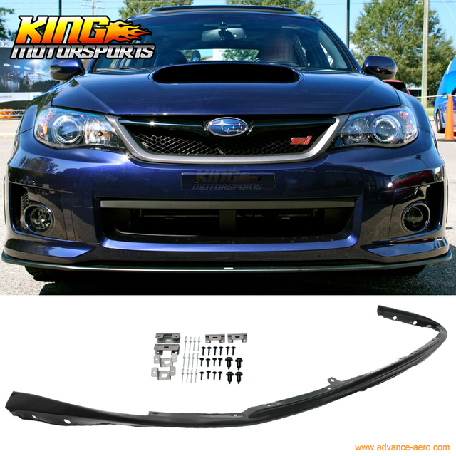Fit For 08 10 Subaru Impreza WRX Sti Front Bumper Lip Poly Propylene Spoiler