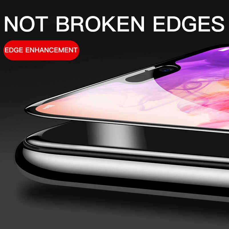 Tam kapak temperli cam için Huawei mate 20 lite y6 p akıllı artı nova 4 3i 3 onur 10 sihirli 2 oyun 8X ekran koruyucu Film