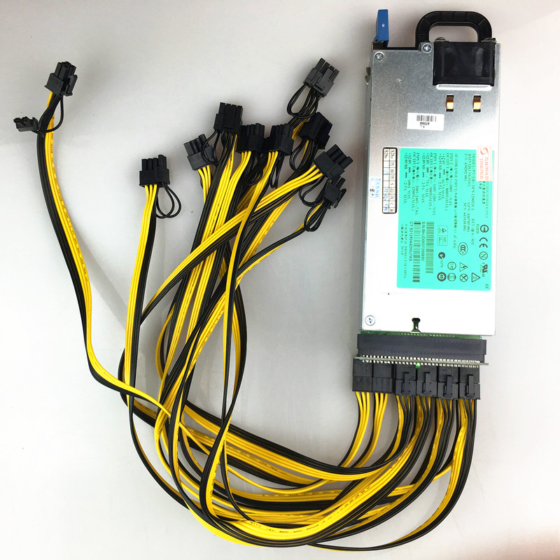 цена на 1200W Miner Switching Power Supply for GPU Rig Mining BTC ETH Ethereum 1200W DPS-1200FB A 438202-002 440785-001 For DL580G5 apw3