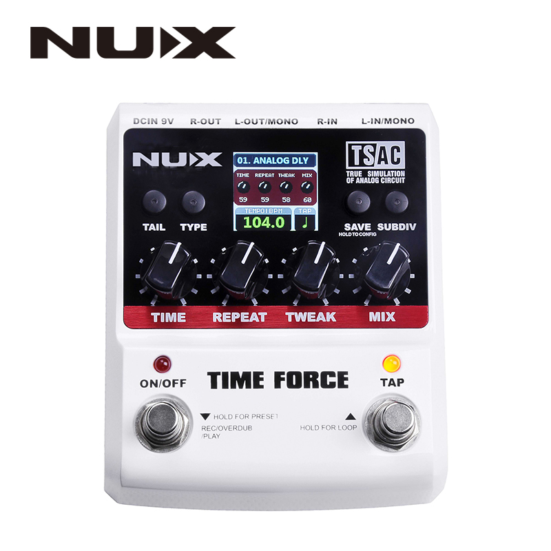 NUX TIME FORCE Multi Digital Delay Effects Electric Guitar Effects Pedal Guitarra Guitar Tuner Accessories Instrumentos Musicais electric guitar effector multi function guitar composition upgrade stylesound tuner drum machine integrated digital effects